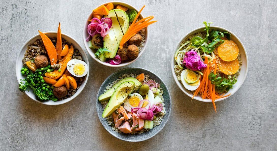 Four Salad Bowls